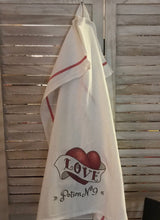 Love Potion No. 9 -  Farmhouse Dish Towel- Chesilhurst Farm - Valentine Gift-Heart Kitchen Towel