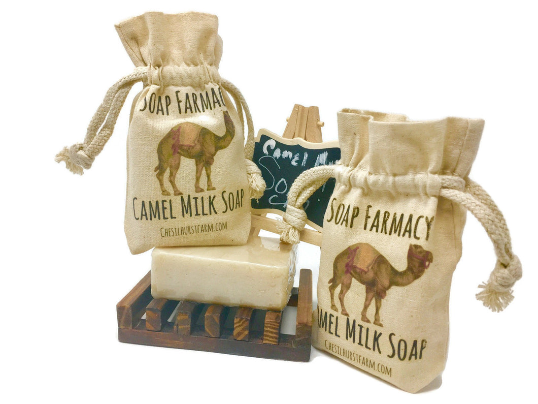 Organic Camel Milk Soap | Soothing and Moisturizing | Unscented 4 Bars