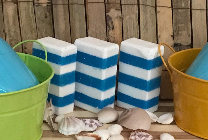 Beach House Cabana Soap - Body Bar - Turquoise Sea - Soap Farmacy - Chesilhurst Farm