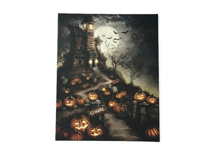 Gothic Halloween Lighted Led Canvas Print