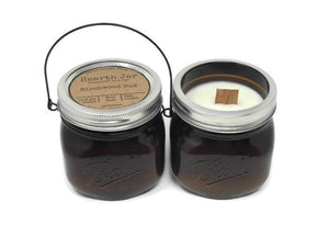 "Hearth Jar Soy Candle - Wood Wick ""Fireplace In A Jar"" Candle"