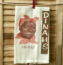 Dinah's Shack Menu Palo Alto 1950 Retro Farm House Dish Towel
