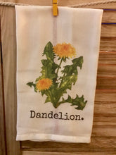 Dandelion Retro Red Stripe Dish Towel