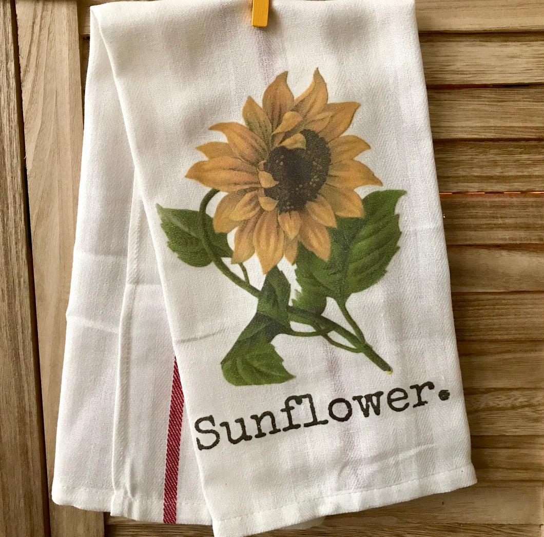 Sunflower Farm House Kitchen Dish Towel