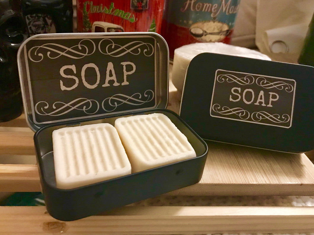 Creamy Goat Milk Soap + Travel Tin