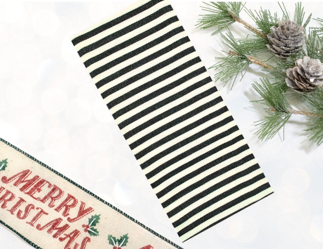Black Petite Stripe Kitchen Towel