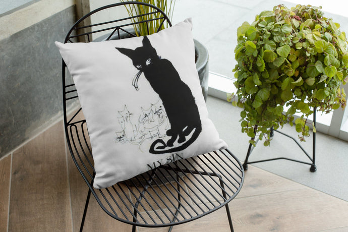 My Sin Black Cat Pillow Cover - 20