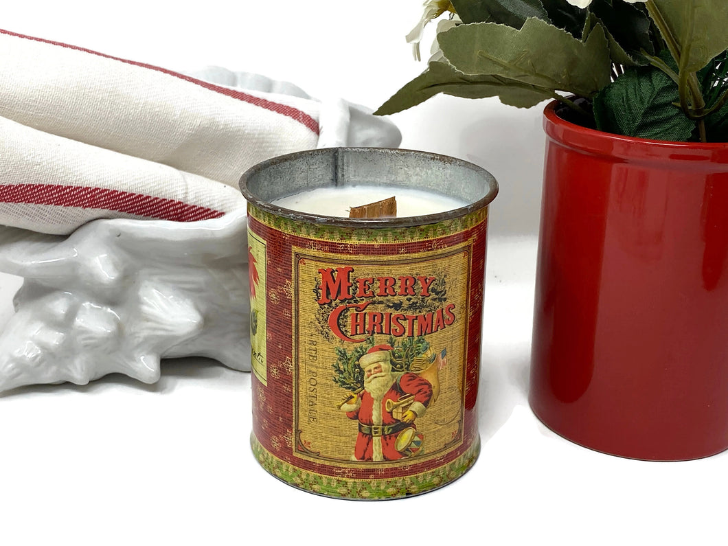 Soy Wax Candle | Fireplace In A Can | Candle | Wood Wick Candle
