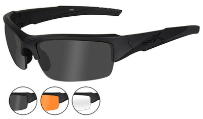 WX VALOR GLASSES: VALOR GREY/CLEAR/RUST MATTE BLACK FRAME