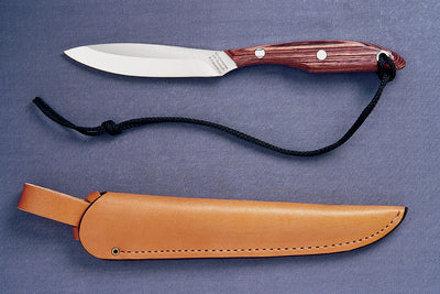Grohmann Knives #R2S Trout/Bird Knife Roasewoood Handle
