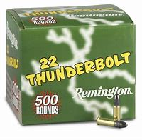 Remington 22 LR round nose Thunderbolt 500 rounds