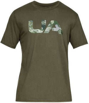 UA: Men's Camo Fill T-Shirt, Green