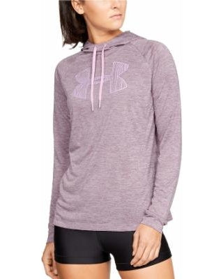 UA: Women's Tech LS Hoody 2.0 Graphic, Purple