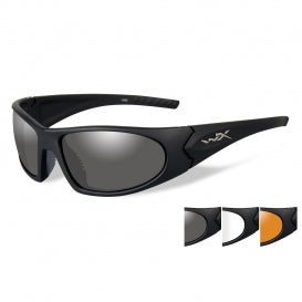 WX ROMER 3 GLASSES: GREY/CLEAR/MATTE/BLACK FRAME 2 LENS
