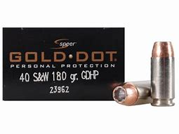Speer Gold Dot 40 S&W  Pistol Ammo 180gr