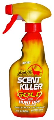 Wildlife Research Scent Killer Gold Clothing Spray - Hunt Dry Technology plus 12oz