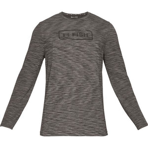 UA: Men's Seamless Fish Hunter Crew,Grey