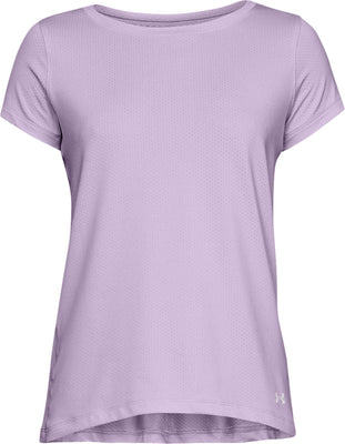 UA: Women's Heat Gear Tee, Purple,