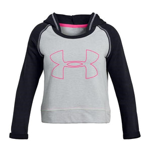 UA: Youth  Girls Rival Terry Hoody, Grey/Pink