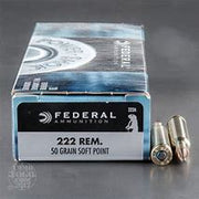 Federal Power Shok 222 Rem 50gr Soft Point