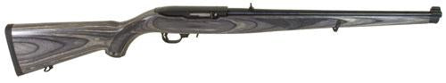 Shotguns/Rifles: Ruger 10/22 22LR Black Laminate Mannlicher, Blued Carbine