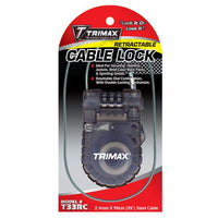 Trimax Retractable Cable 3 Digit Combo Lock #T33RC