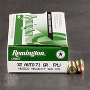 Remington UMC .32 Auto 71gr Full Metal Jacket