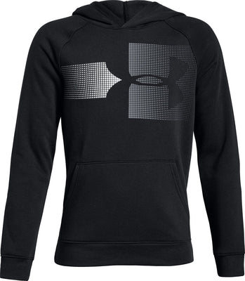 UA: Youth Boy's Rival Logo Hoodie, Black
