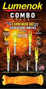 Lumenok Combo Pack C/W Lumenok HD Signature Nocks, Orange