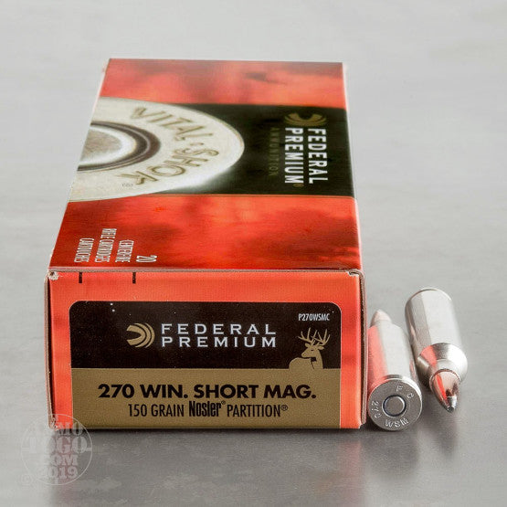 Federal Prem270 WSM 150gr Nosler Partition