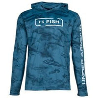 UA: Men's IsoChill Shore Break Camo Hoodie, Blue
