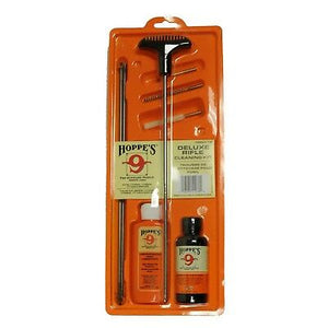Hoppe's Deluxe Rifle Cleaning Kit, Fits .17 -- .204 Caliber w/3 Piece Steel Rod #D17BCN