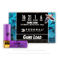 "Federal 16ga Game Load 2 3/4"" 1oz #6"