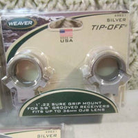 "Weaver: 1"" .22 Sure Grip Mount Silver Tip Off #49821"