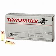 Winchester 45 Auto 230gr, FMJ, 50 rds