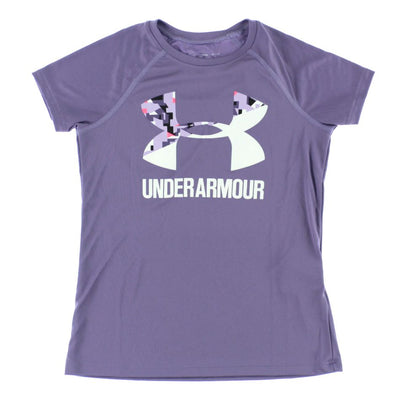 UA: Youth Girls Big Logo Tee Solid, Purple