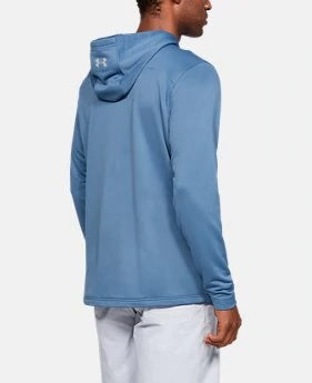 UA: Mens Dockside Tech Terry Hoodie, Blue