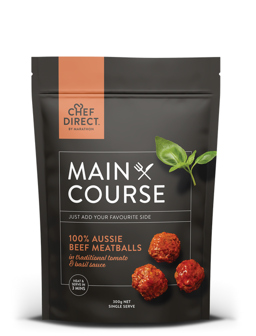 Aussie Beef Meatballs in Tomato & Basil Sauce 300g - 8 pack