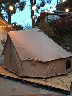 bell tent canvas camp