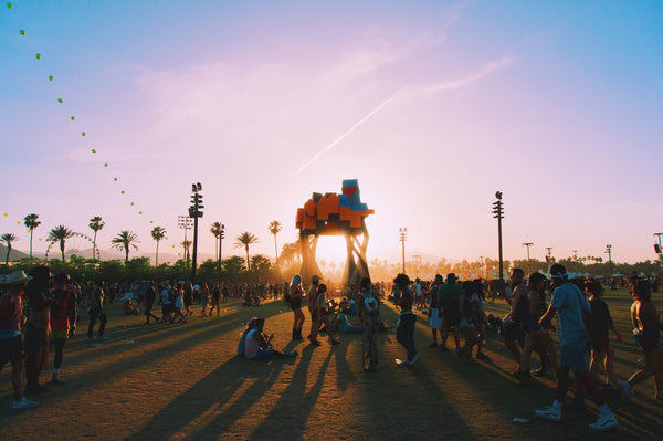 Camping at Coachella