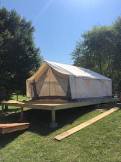 Bell Tent 16' (5m) white made from 100% Breathable Cotton Canvas Fabric w/ Water & Fire Repellent Treatment, Center & Entrance Pole, Military grade YKK zippers, Roof vents & Stove Jack Hole available with detachable groundsheet for Music Festivals, Corporate events, Backyard fun