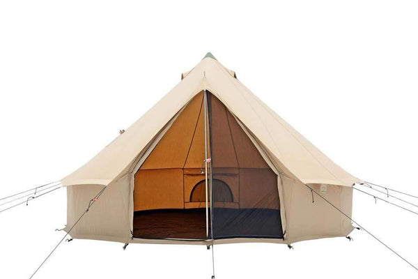 CANVAS REGATTA BELL TENT WITH 3 SLEEPING MATS + 3 BLANKETS