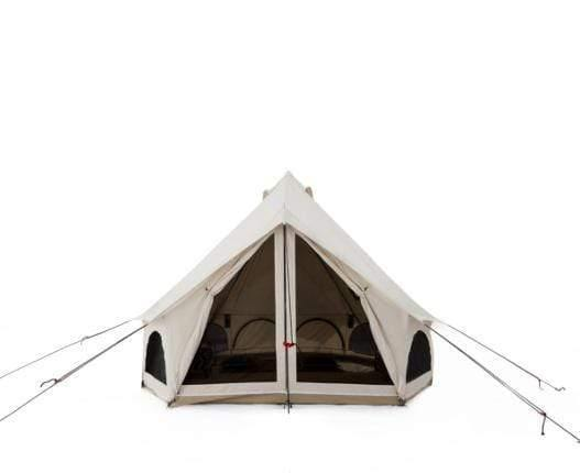 CANVAS AVALON BELL TENT WITH 3 SLEEPING MATS + 3 BLANKETS