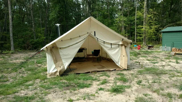 16'x20' Alpha Wall Tent - White Duck Outdoors