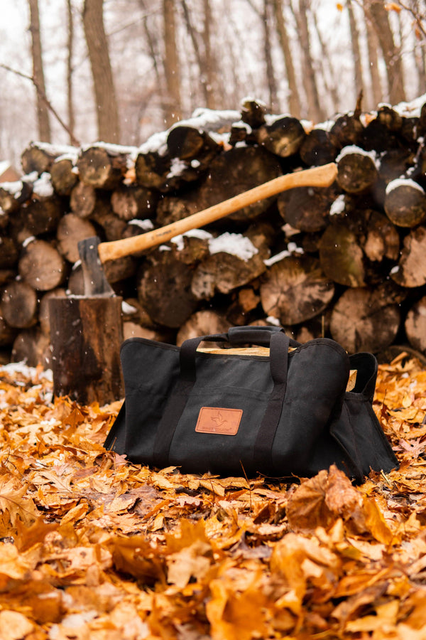 Tote Shape Canvas Firewood Log Carriers