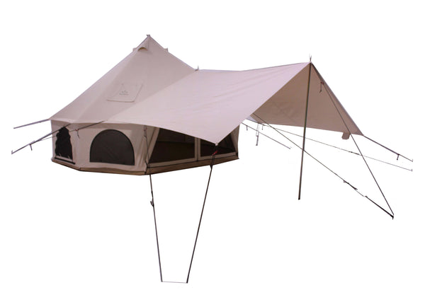 Avalon Bell Tent Awning - White Duck Outdoors