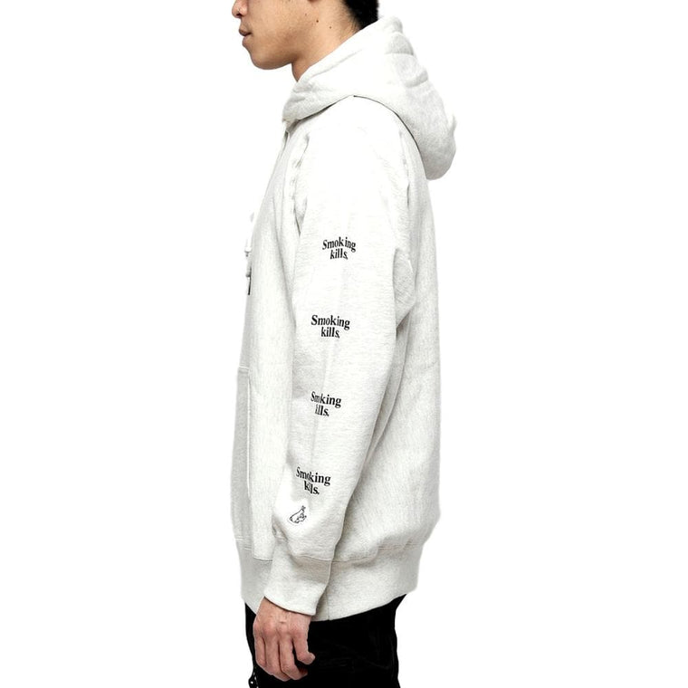 FUCKING RABBIT SMOKE RING HOODIE -CREAM
