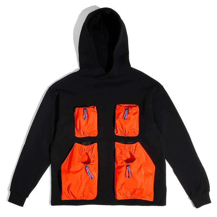 LYPH WAS HOODY -BLACK