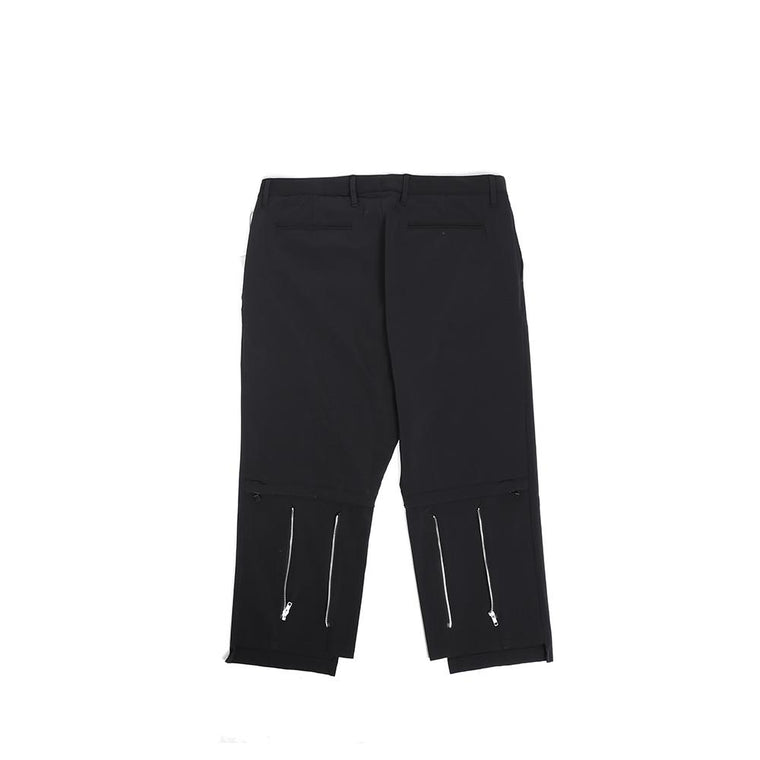 Poliquant NYLON WIDE BONDAGE PANTS -BLACK