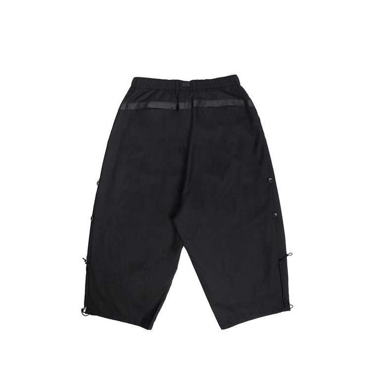 Poliquant SUPER WIDE WOOL TROUSER -BLACK